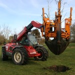 Our tree spade allows us to move trees up to 25 ft tall